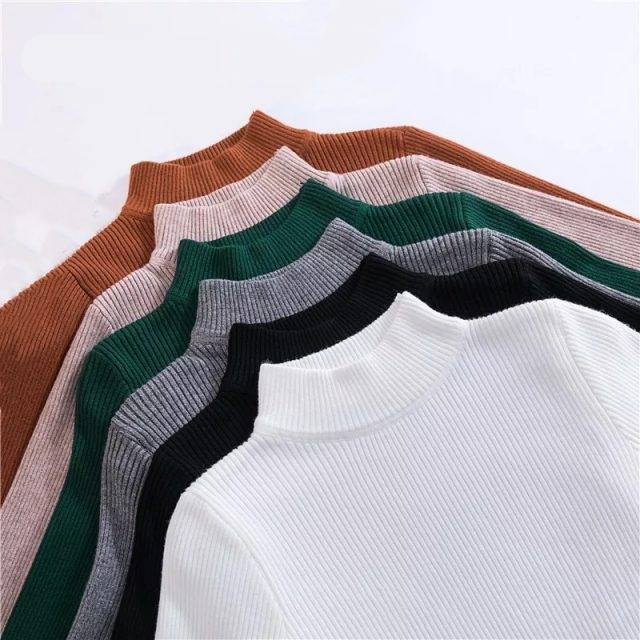 Turtleneck Slim-fit Sweaters