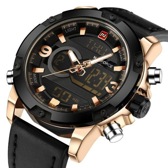 Luxury Leather Sports Watch for Men