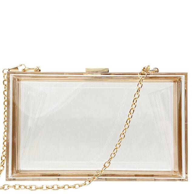 Transparent Acrylic Bags Clear Clutch Purses Box Women Shoulder Bags Day Clutches Bags Wedding Party Evening Clutches Handbags